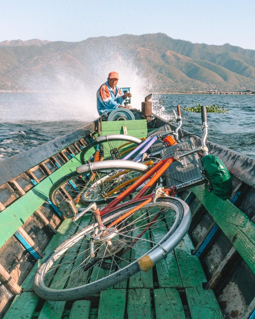 Bikes on a boat