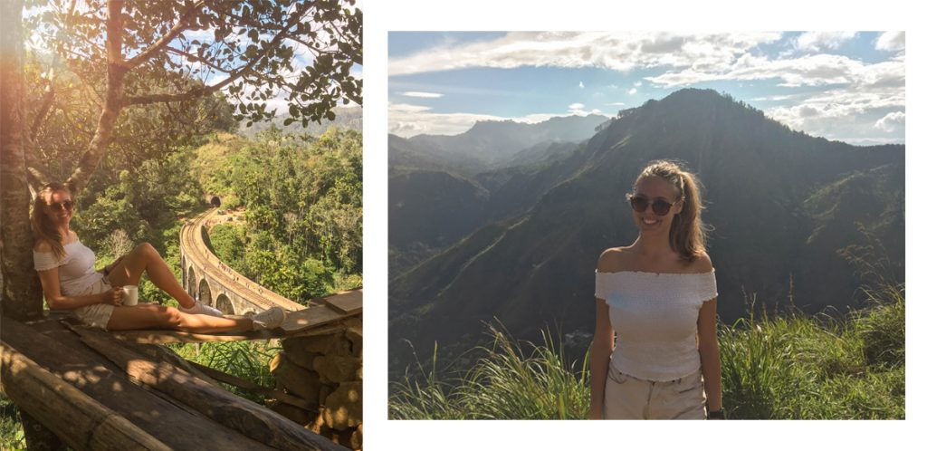 Nine arch bride and view from Little Adams peak