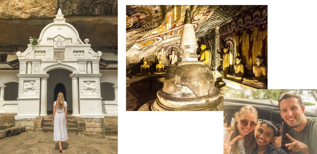 Dambula royal cave temple pictures and itinerary